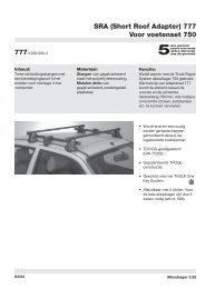 SRA (Short Roof Adapter) 777 Voor voetenset 750 - PartsPoint
