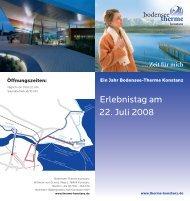 Erlebnistag am 22. Juli 2008 - Bodensee Therme Konstanz