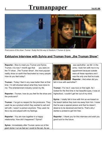 the Truman Show - Sophie-Barat-Schule
