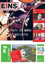 15. Oktober `09 (PDF) - E1NS-Magazin
