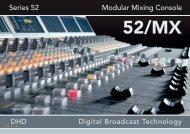 Series 52 Modular Mixing Console - Dhd-audio.de