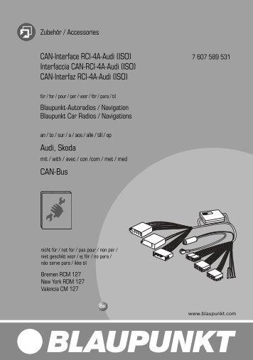 CAN-Interface RCI-4A-Audi - Blaupunkt