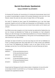 Bericht Koordinator Spielbetrieb - Kreis 17 - Iserlohn