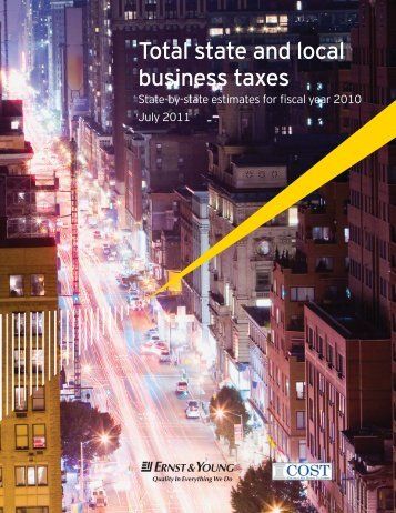 Total state and local business taxes - Council On State Taxation