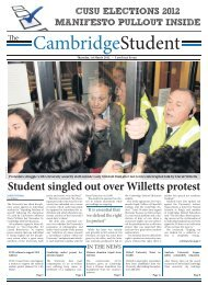 Lent Issue 7 2012 - The Cambridge Student - University of Cambridge