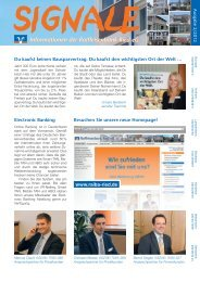 Informationen der Raiffeisenbank Ried eG