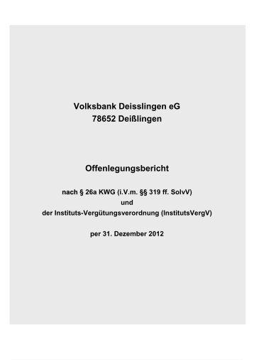Offenlegungsbericht 2012