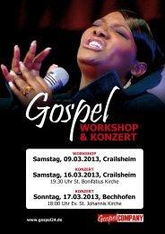 GospelWORKSHOP & KONZERT - Katholische Kirche in Crailsheim