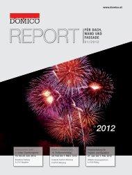 REPORT für Dach, WanD unD fassaDe 01/2012 - Domico