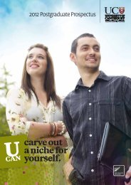carve out a niche for yourself. - University of Canterbury