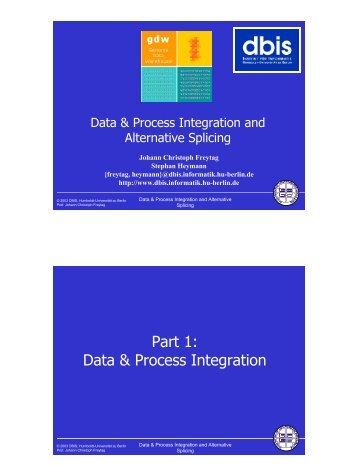Data & Process Integration - dbis - Humboldt-Universität zu Berlin