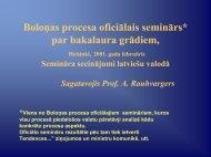 Boloņas procesa oficiālais seminārs Helsinkos par bakalaura ...