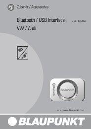 Bluetooth / USB Interface 7 607 545 550 VW / Audi - Blaupunkt