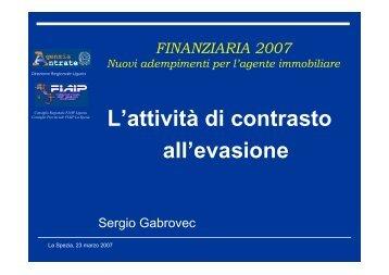 L'attività di contrasto all'evasione da parte dell'Agenzia ... - Liguria