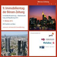 9. Immobilientag der Börsen-Zeitung - WM Seminare