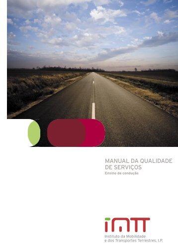 Manual da qualidade de serviços : ensino da condução - Imtt
