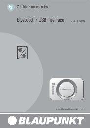 Bluetooth / USB Interface 7 607 545 500 - Blaupunkt