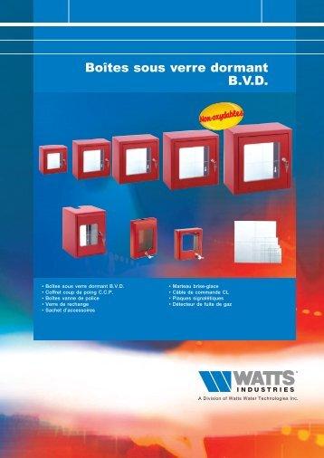 Boîtes sous verre dormant B.V.D. - Watts Industries