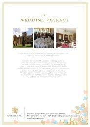 Grinkle Park Wedding Brochure - Classic Lodges