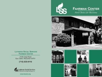 Fahrman Center Brochure - Lutheran Social Services of Wisconsin ...