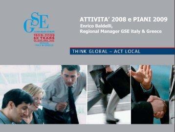 ATTIVITA' 2008 e PIANI 2009 - Guide Share Italia