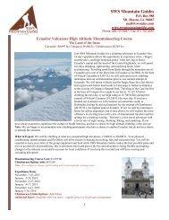 SWS Mountain Guides