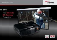The Ultimate 3D Gaming Projector - Optoma