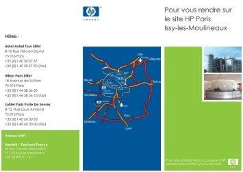 Télécharger le plan (PDF-403 Ko) - Hewlett-Packard France - HP