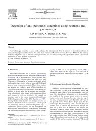 Detection of anti-personnel landmines using neutrons and gamma ...
