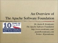 An Overview of The Apache Software Foundation - Justin Erenkrantz