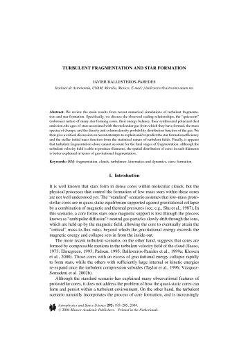 Turbulent Fragmentation and Star Formation - ingentaconnect.co..