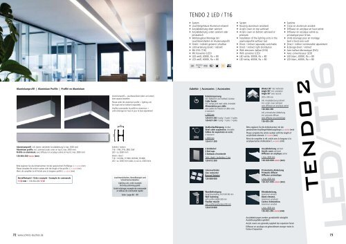 Tendo 2 Led T16 System