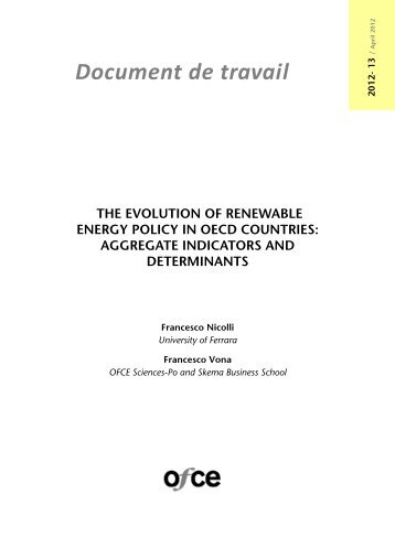 The evolution of renewable energy policy in OECD countries - OFCE ...