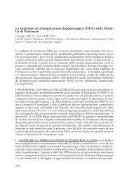 La sindrome da disregolazione dopaminergica (DDS) nella ... - Limpe
