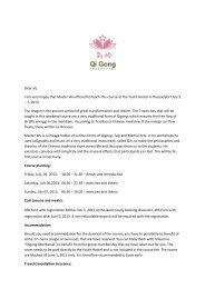 Course Announcement - Qi Gong Oberkassel