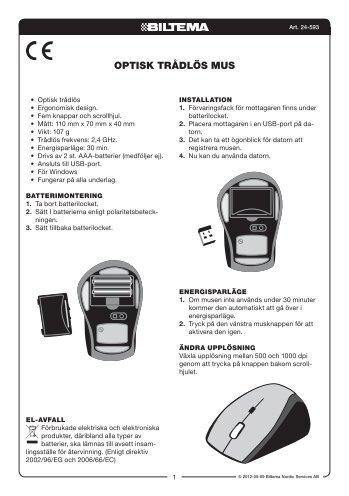 24-593 manual.indd - Biltema 99709b9855b6e