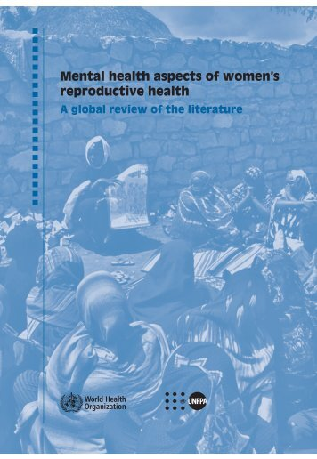 Mental health aspects of women's reproductive health : a global