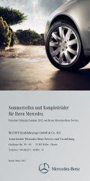 Sommerreifen und Kompletträder 2012 - BLESES Kraftfahrzeuge ...
