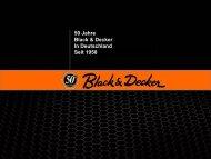 50 Jahre Black & Decker In Deutschland Seit 1958 - Black and Decker