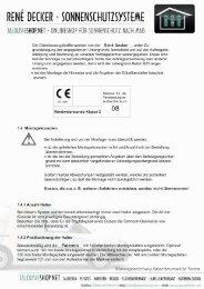 Montageanleitung Markise Torino - Jalousieshop.net