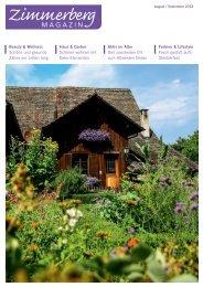 Ausgabe August/September 2013 - Zimmerberg-Magazin