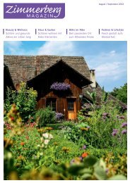 Ausgabe August/September 2013 - Zimmerberg-Magazin