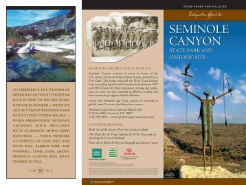 Interpretive Guide to Seminole Canyon State Park and Historic Site