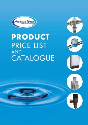 product price list catalogue advanced water
