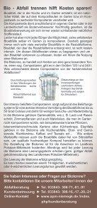 Flyer Biotonne neu - APM - Abfallwirtschaft Potsdam-Mittelmark - Seite 2