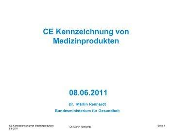 CE Kennzeichnung von Medizinprodukten 08.06.2011