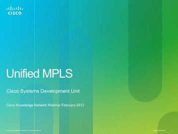 Network Transformation System Unified MPLS Mobile Transport ...