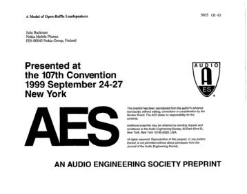 an overview of the audio engineering society