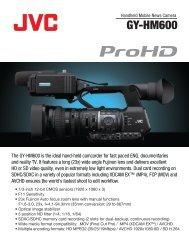 GY-HM600 - LS Audiovisuel