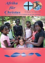Nr. 1. Januar - bei den Missionsschwestern des hl. Petrus Claver